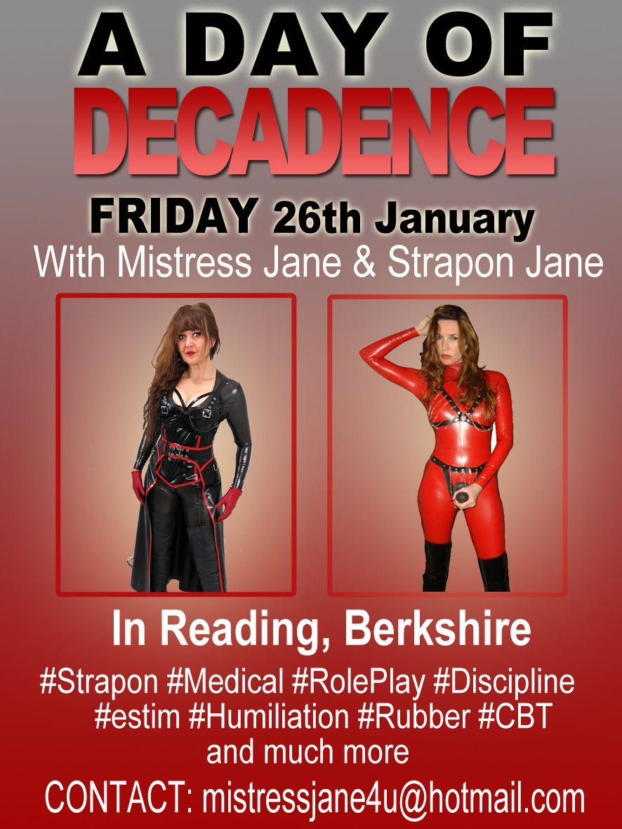 Day of Decadence with Strapon Jane